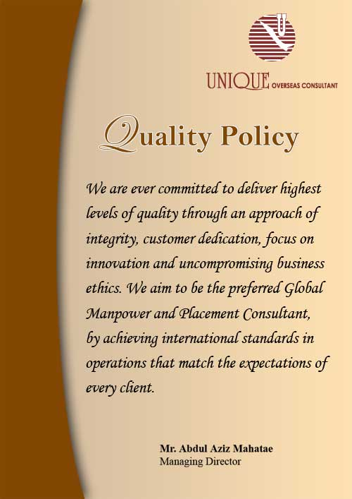 Unique Overseas Consultant Manpower Agency Of India